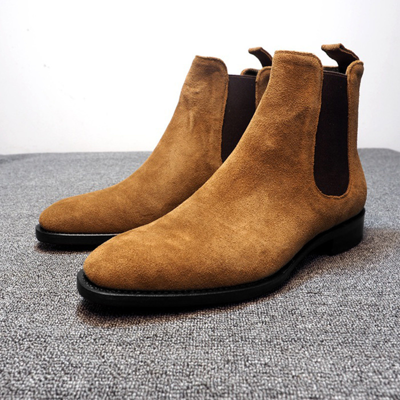 Mens Boots Men Chelsea Boots Ankle Boots Plus Velvet High-top Martin Boots Outdoor Walking Shoes Wear Resistant Casual Shoes