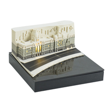 Creative Sticky 3D Stereo Memo Pad Note Paper with Lights - Shanghai Bund Black Grey