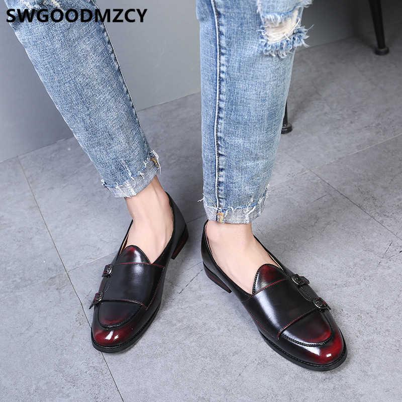 Çift keşiş askısı ayakkabı deri ayakkabı erkekler resmi ayakkabı erkekler zapatos de hombre italiano sapato oxford masculino erkek ayakkabi