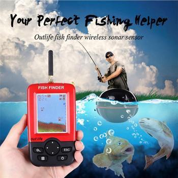 Inteligentny przenośny lokalizator ryb głębokości z 100M bezprzewodowym echosonda echosonda LCD echosonda do połowów morskich nad jeziorem tanie i dobre opinie 3 7 V Bateria litowo-jonowa Angielski Bezprzewodowy 125 Khz 0 6-36 metr 90 Degree Fish Finder 2 4 TFT LCD White LED Backlight