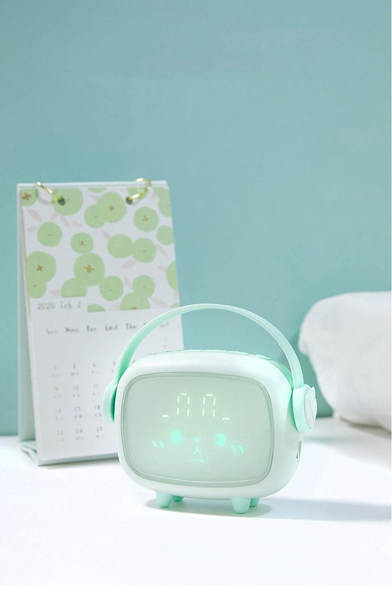 Xiaomi youpin led despertador digital nightlight quarto