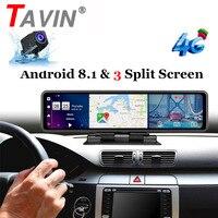 12 Car DVR Rear View Mirror Android 8.1 dvr Dash Camera 1080P dual Lens camera wifi GPS Navigation ADAS Remote car LED video