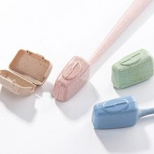 4PC Brush Case Travel Toothbrush Head Cover Case Protective Caps Health Wheat Straw Protect Hike Brush Cleaner(China)