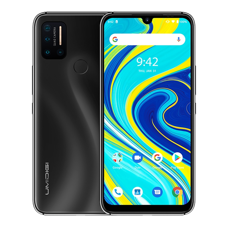 "UMIDIGI A7 Pro 6.3"" IPS Screen 4GB+64GB Smartphone Helio P23 Octa core Android 10 Face Unlock Dual 4G Mobile Phone 4150mAh 5 Cam"