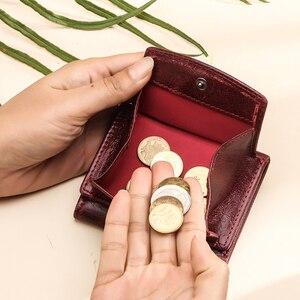 Image 2 - מיני נשים ארנק וארנקים יוקרה מותג קטן מטבע ארנק ארנקים רזים RFID Cartera Mujer דק גבירותיי ארנקי כסף שקית portfel