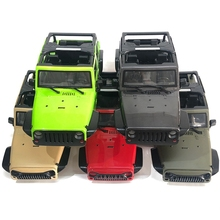 ROCK Crawler 1 10 JEEP WRANGLER RUBICON WITHOUT ROOF Wheelbase 313mm Hard Body Shell KIT For Crawler AXIAL SCX10 Cherokee RC CAR cheap COOL RACING Plastic Assembly Category Car Shell Vehicles Remote Control Toys Value 10 Cars Assemblage Screws