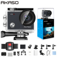 AKASO V50X WiFi Action Camera Native 4K30fps Sport Camera with EIS Touch Screen Adjustable View Angle 131 feet Waterproof Camera