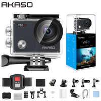 AKASO V50X caméra d'action WiFi natif 4K30fps caméra de Sport avec écran tactile EIS Angle de vue réglable 131 pieds caméra étanche