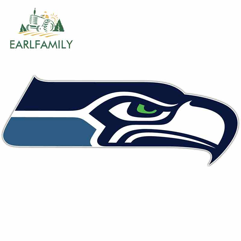 EARLFAMILY 13cm x 5.9cm For Seattle Seahawks Football DIY Motorcycle Stickers Vinyl Car Sticker Fashion RV Decoration image