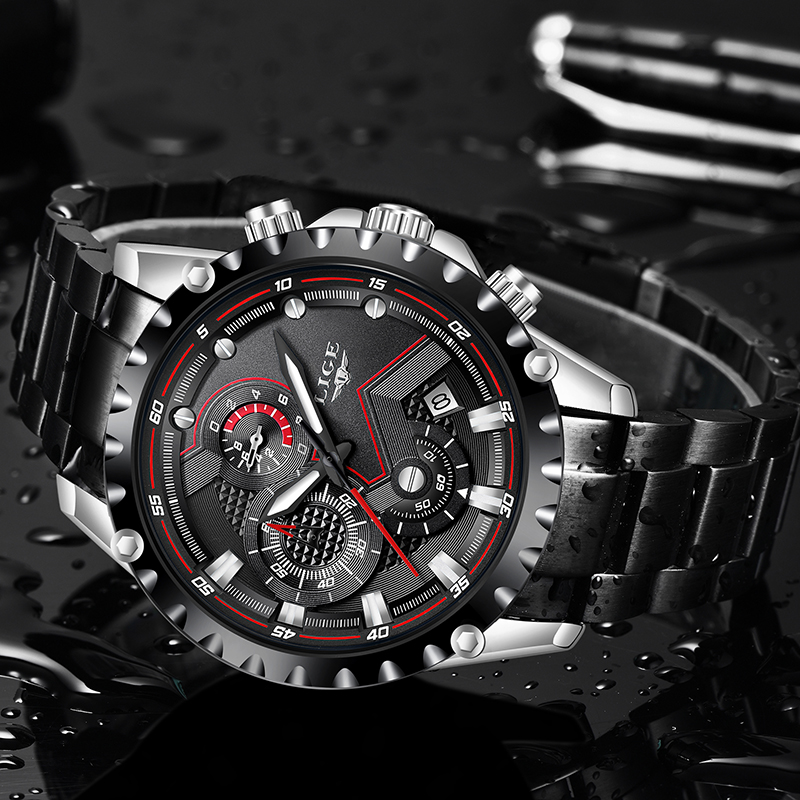 Ultimate SaleLIGE Quartz Watches Army Sport Waterproof Top-Brand Men All-Steel Relogio Masculino