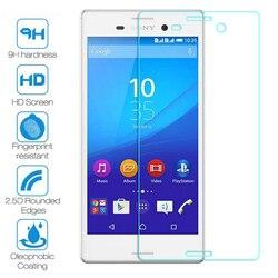 Vidro temperado para sony xperia z1 z3 plus z4 z5 telefone compacto película protetora de vidro frontal para sony z5 premium 9h hd