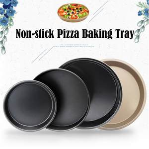 Bakeware Round Pizza-Pan Nonstick Carbon-Steel And Perfect-Size Easy-To-Clean -4