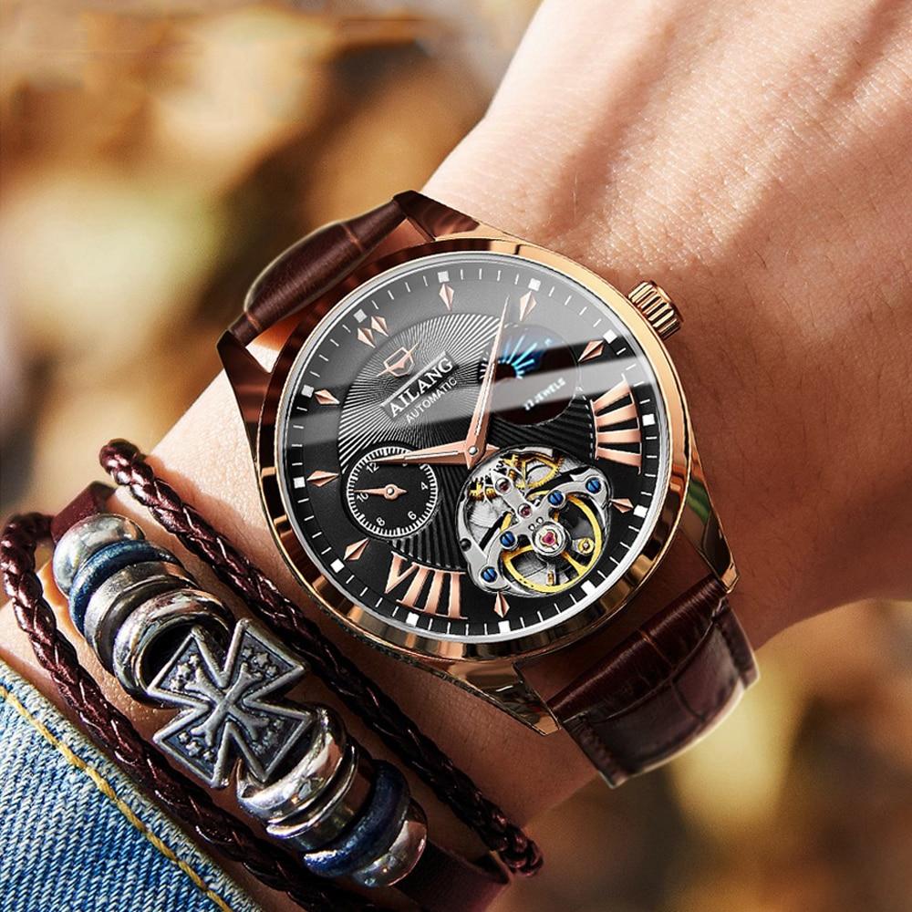 AILANG qualité Tourbillon montre pour hommes hommes automatique suisse Diesel montres homme lumineux étanche plongée mécanique S