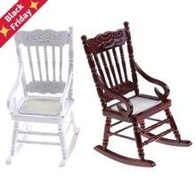 Новинка 1:12 миниатюрная мебель для кукольного домика белое деревянное кресло-качалка пеньковая веревка сиденье для кукол аксессуары для дома Декор Игрушки