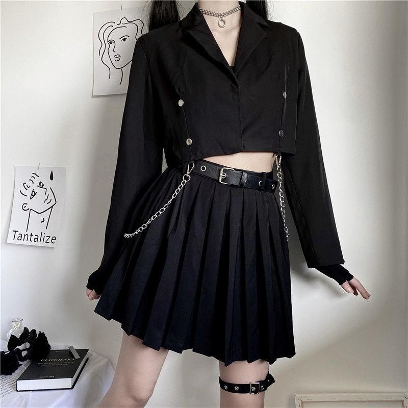 Nova a Linha Harajuku Cintura Alta Mini Saia Plissada Faldas Kpop Tamanho  Grande Feminino Verão Tiktok Roupas Estilo Coreano 2020 Saias   Compre  Fácil da China