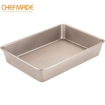 CHEFMADE 13-Inch Cake Mold, Non-Stick Rectangle Bread and Meat Pan, for Kitchen Oven Baking
