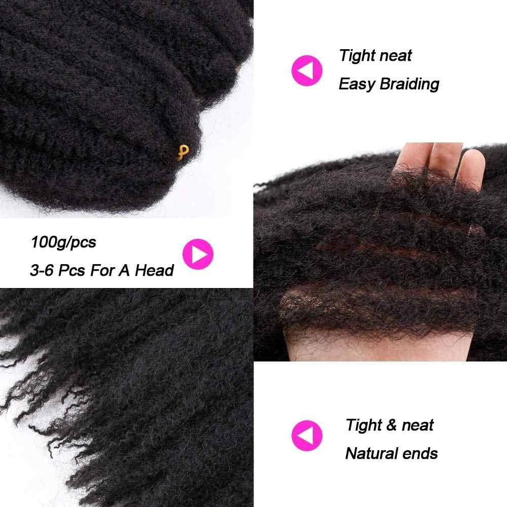 Marley Haar Voor Twists 18 Inch Lange Afro Marley Vlecht Haar Synthetische Vezels Marley Vlechten Hair Extensions Gehaakte Vlechten