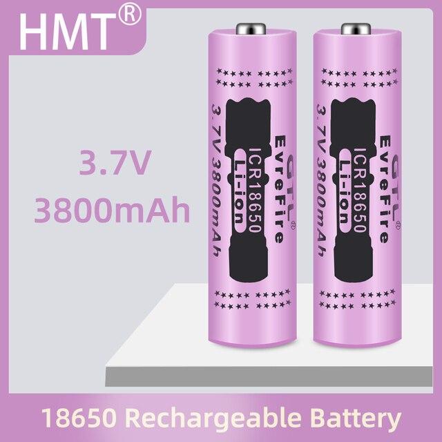 2021 18650 סוללה באיכות גבוהה 3800mAh 3.7V 18650 סוללות ליתיום נטענת סוללה עבור פנס לפיד + משלוח חינם
