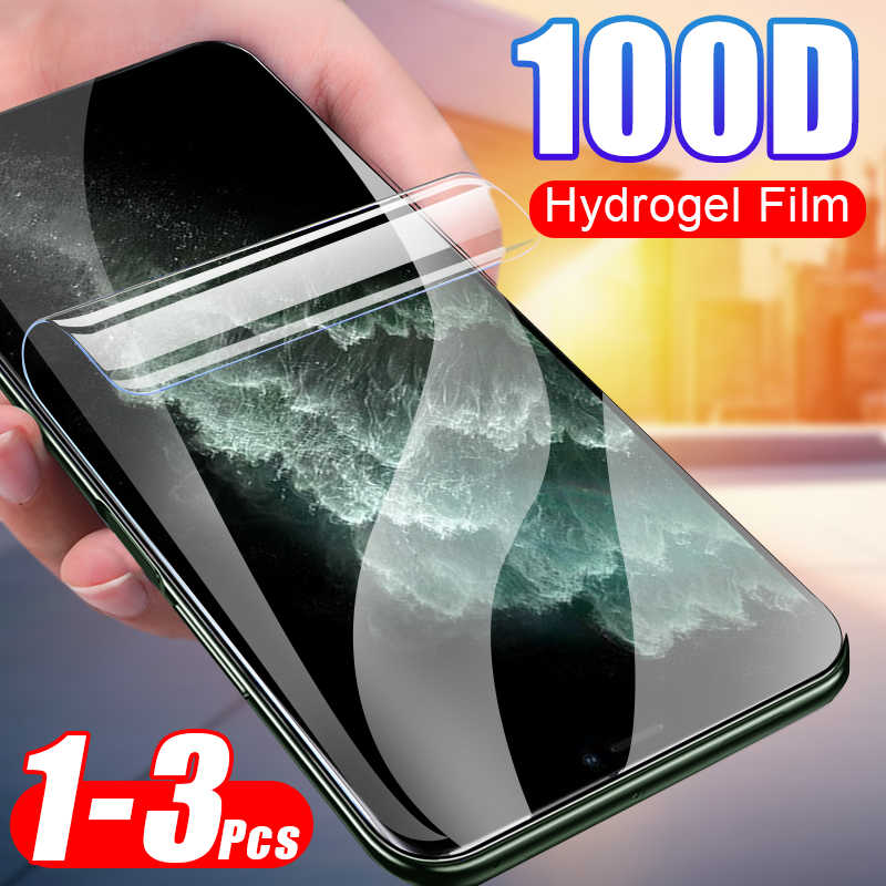 3Pcs 100D Hydrogel Film Full Cover For IPhone XR X XS 11 Pro Max Protector Film For IPhone 8 7 6 6s Plus Protector Hydrogel Film
