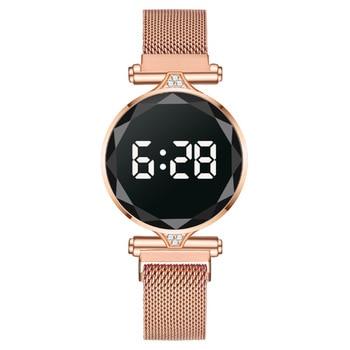 שעון יוקרתי ומעוצב לנשים - תצוגת לד 2