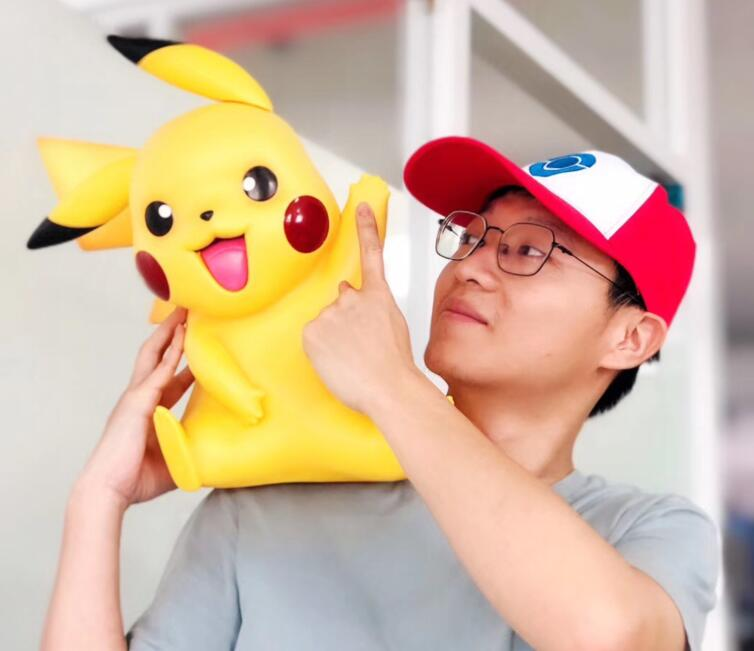 Big Size 1:1 Pocket Pikachu With Hat Action Figure Toys 40cm