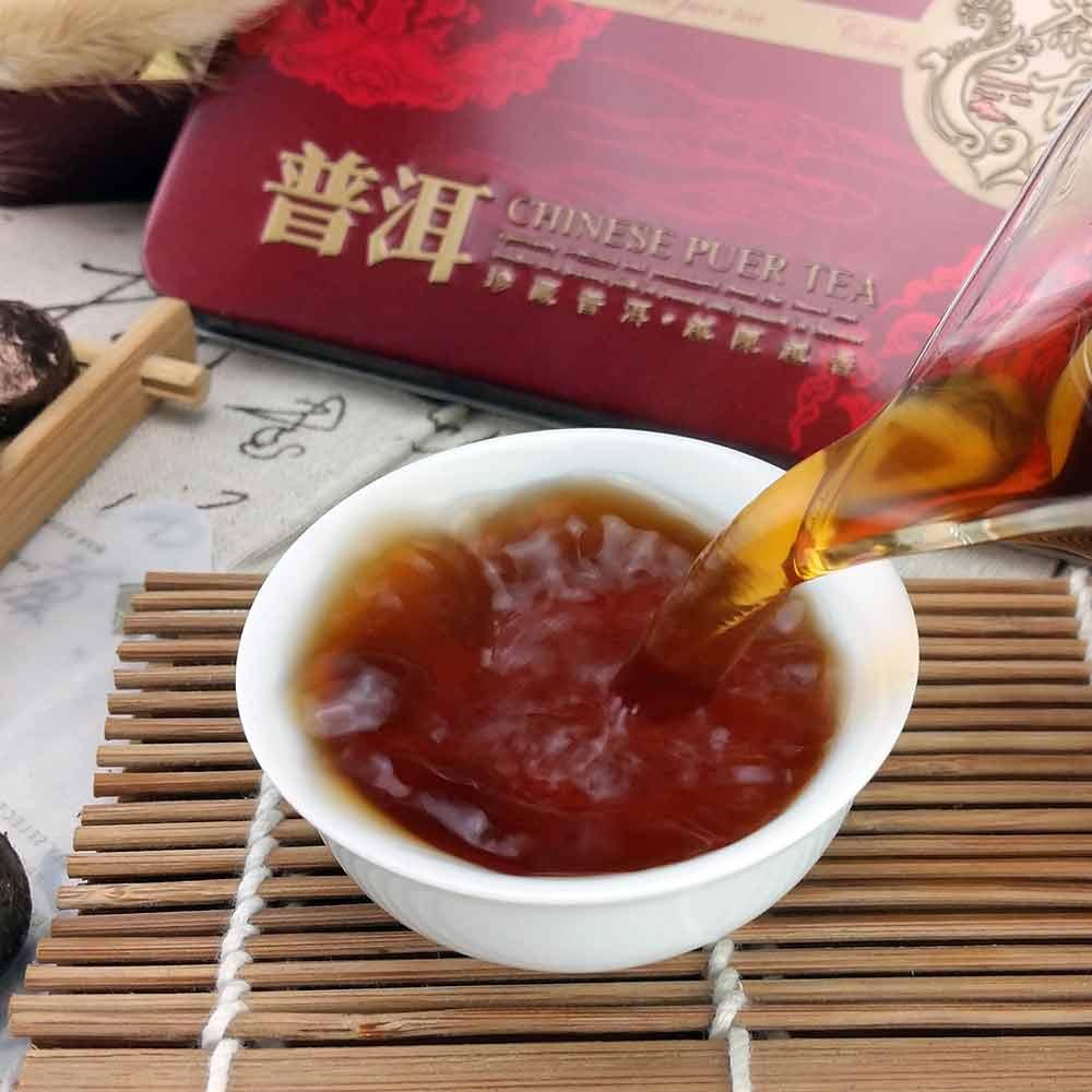 2019 Yr Glutinous Rice Ripe Mini Pu-erh, Pu-erh Shu Pu-erh Tuocha Gift Pack 75g 5