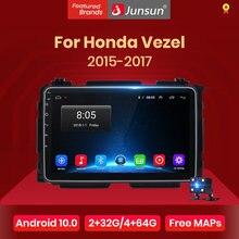 Junsun V1 Android 10.0 Dsp Carplay Auto Radio Multimedia Video Speler Auto Stereo Gps Voor Honda Hrv Vezel 2015 - 2017 2 Din Dvd