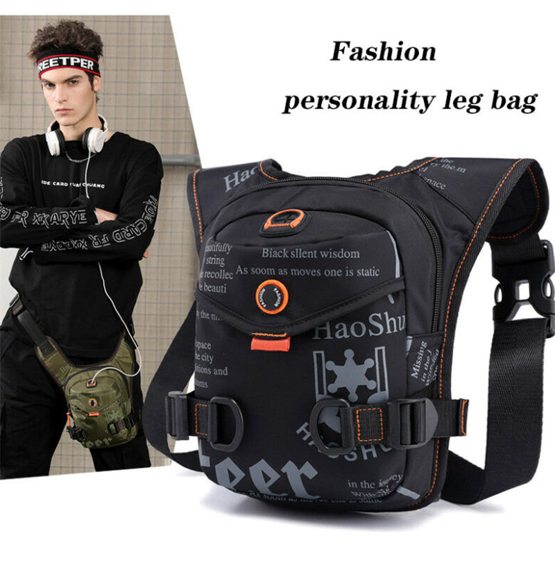 Nylon Men Travel Waist Bag Thigh Sports Chest Pack Multifunctional Waterproof Portable Riding Outdoor Adjustable Storage Bag