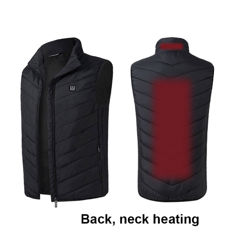 Electric USB Heated Vest Men Vest Waistcoat Woman Coat Thermal Softshell Heated Jacket Nerf Vest Heating Chaleco Calefactable