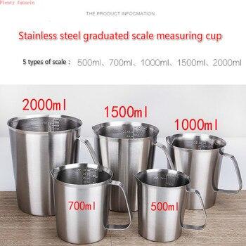 Verdickt 304 edelstahl mess skala tasse messzylinder milch tee backen eier löffel 500ml/700ml/1000ml/1500ml/2000ml