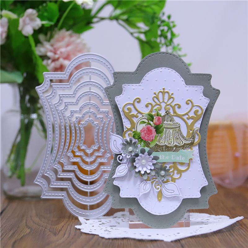 InLoveArts Frame Metal Cutting Dies For Craft Scrapbooking Embossing Stencil DIY Die Cut Card Decoration 2019
