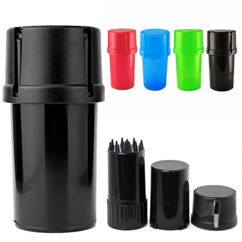 1Pcs 4 Color Plastic Grinder 40mm Diameter Tobacco Herb Crusher Storage Case Box Grinders Smoke Pipe Cigarette Accessories 1