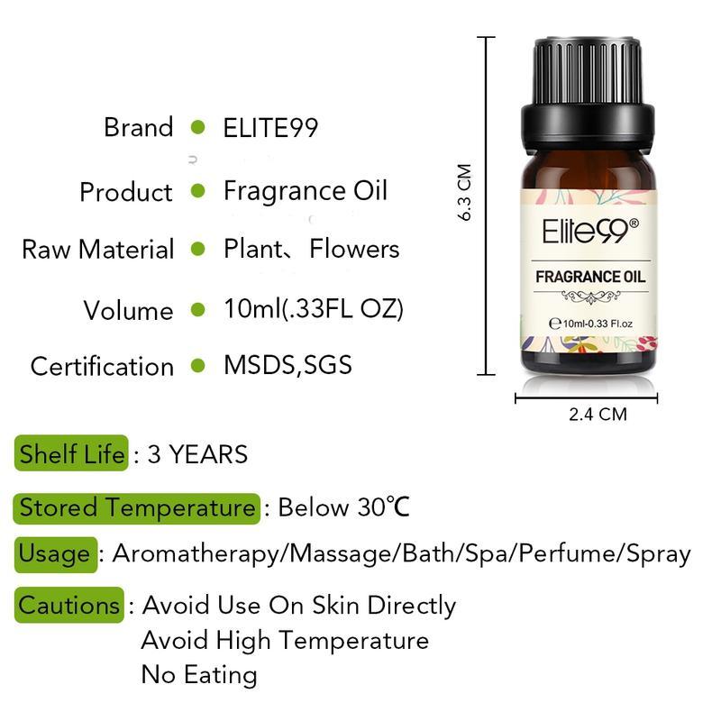 Elite99 10ml Black Opium 100% Pure Fragrance Oil Sandalwood Flower Fruit Essential Oil For Aromatherapy Diffuser Fresh Air-2