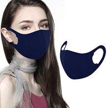 Livraison rapide 1/3/5/6/8/10 PIÈCES Bleu Marine Glace Soie Masque Pour Adulte Lavable Réutilisable 3D Conception Masque de Résister À La Poussière Couverture de Bouche Маска
