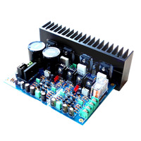 AAAE Top 120W x 2 A3 Replaces LM3886 Fully Symmetric Double Differential FET Power Amplifier Board UPC1237 Protection Circuit Se
