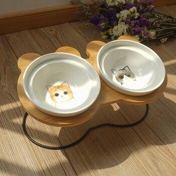 Di modo di Alta-end Ciotola Dell'animale Domestico Vari Modelli Del Fumetto In Acciaio Inox Mensola In Ceramica Ciotola di Alimentazione e Bere Ciotole per Cani e Gatto 1