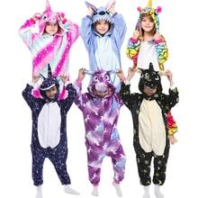Panda Pajamas Stich Sleepwear Onesies Unicorn Animal Girls Kigurumi Kids Boys Children