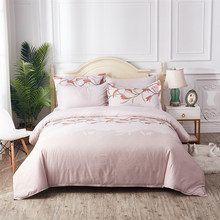 Thumbedding Orchid Bedding Set For Girls Elegant Soft Fresh High End Duvet Cover King Queen Twin Full Single Double Bed Set(China)