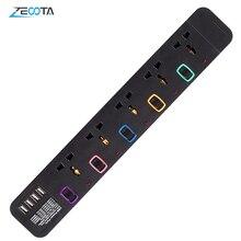 Presa multipla protezione contro le sovratensioni Multiprise elettroelettrico universale 5 prese presa USB interruttore individuale prolunga 3m/9,8 piedi