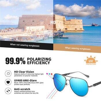 AOFLY BRAND DESIGN Pilot Sunglasses Men Polarized Metal Frame Anti-Glare Mirror Lens 2020 Fashion Fishing Sun Glasses Male UV400 2