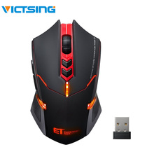 VicTsing Wireless Gaming Mouse 2400 DPI Ergonomic Grips 7 Buttons Breathing Backlit Unique Silent Click