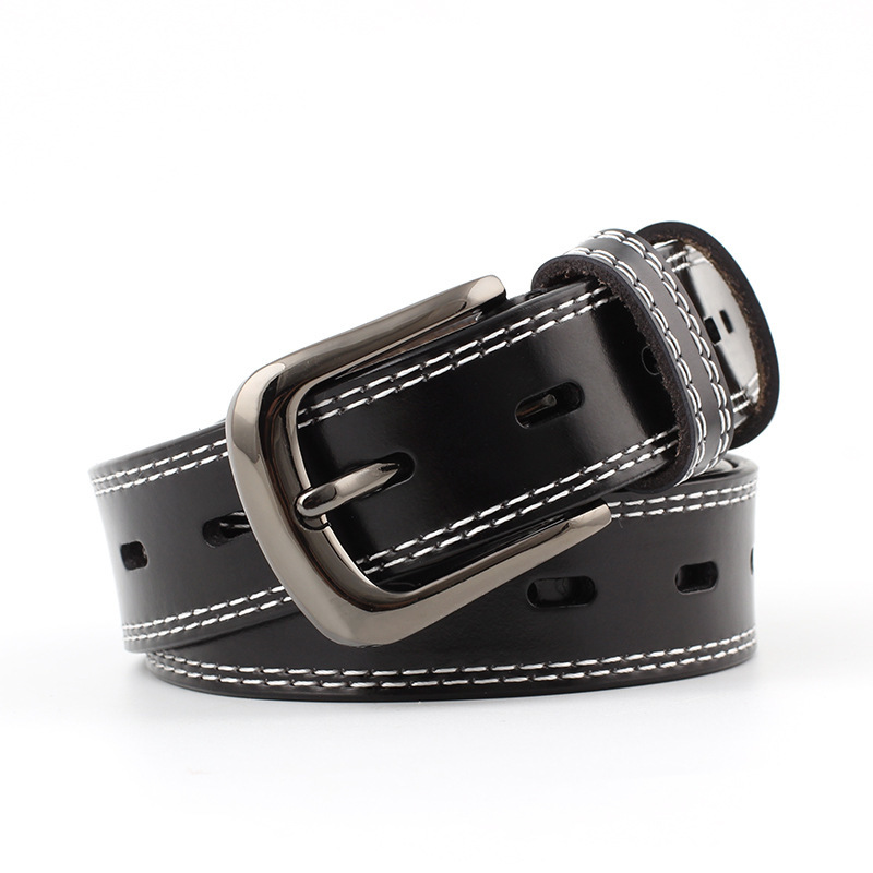 2020 Spring New Design Fashion Corset Belts For Women Solid Alloy Buckle Black Leather Belt All-match Waistband Female ZK399