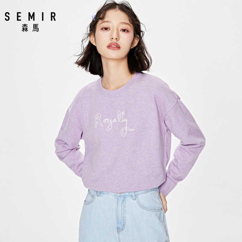 Cárdigan de punto SEMIR, suéter para mujer, primavera 2019, Simple, liso, parte inferior, ropa, suéter, cárdigan de moda para mujer