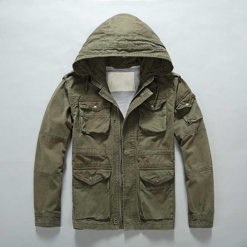 Уличная камуфляжная куртка мужская повседневная Военная куртка с капюшоном и пальто Модная ветровка армейский кардиган мужская одежда - 4