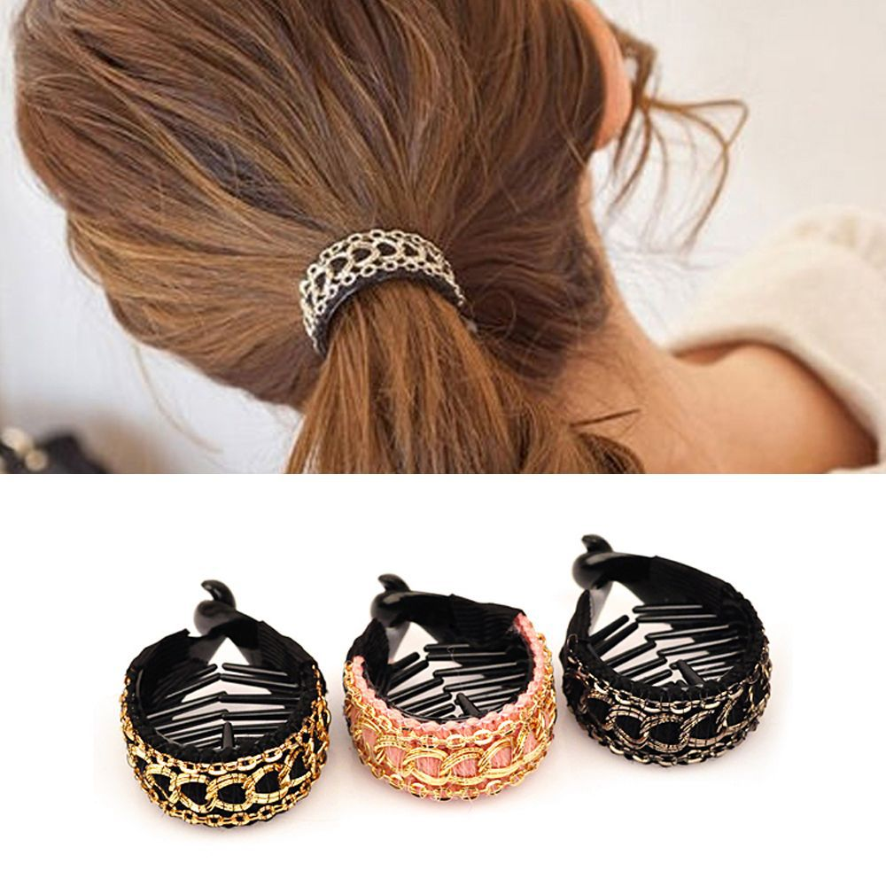 Women Hair Clips Large Hairpins Cute Ties Banana Claws Crabs Ponytail Hold Clamp