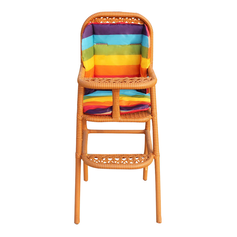 Baby Dining Chair Rattan Weave Hotel Restaurant Children's Dining Chair Baby Chair Children's Dining Room Chai