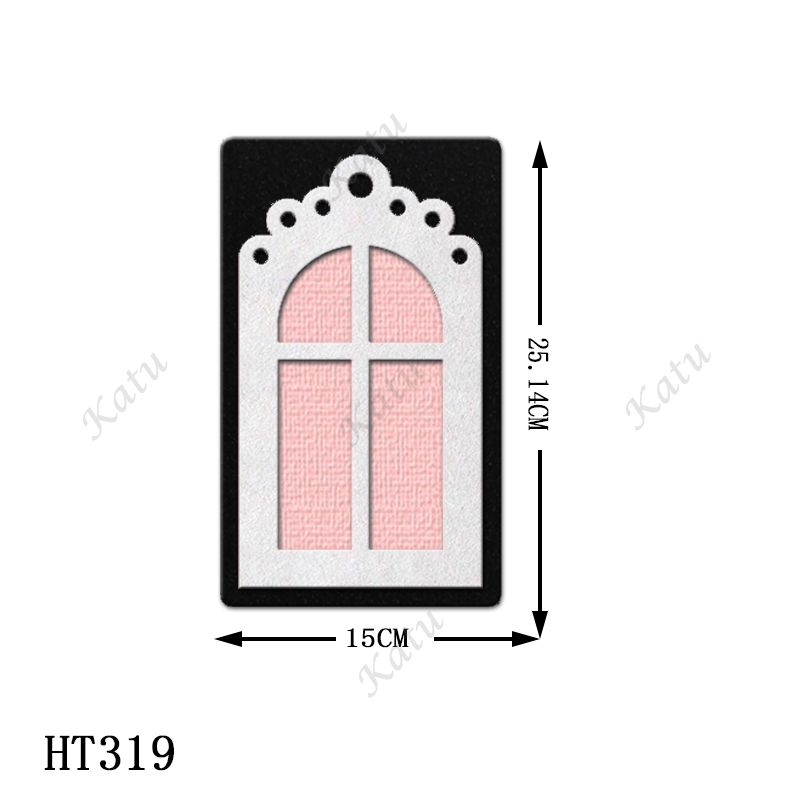 Decorative pendant New Die Cutting And Wooden Mold,HT319 Suitable For Common Die Cutting Machines On The Market.