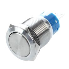 цены SPDT 19mm Stainless Steel Round Latching Push Button Switch 3 Pin 5A 250V AC