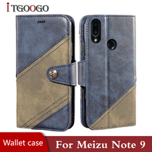 Leather book case for Meizu Note 9 back