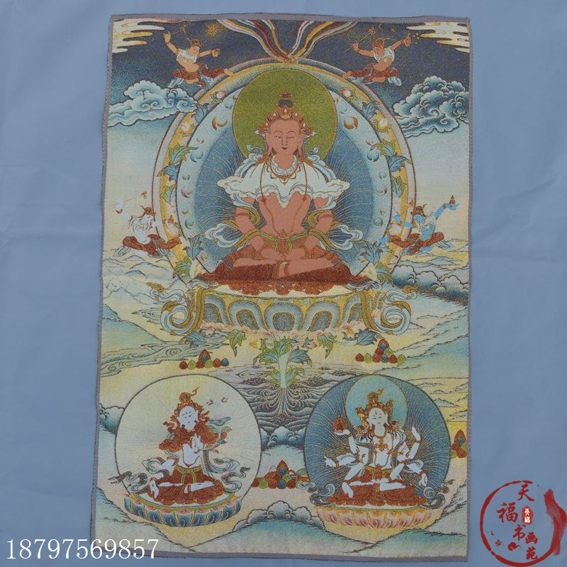 Tibet Collectable Silk Hand Painted Guanyin Painting Thangka   NR